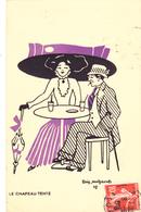 RARE CPI D' ARIS MERTZANOFF En 1908 ILLUSTRATEUR ILLUSTRATION Femme Au Chapeau Tente - N°4 De La Série - Autres Illustrateurs