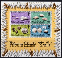 Pitcairn QEII 1974 Shells MS, Used, SG 151 - Stamps