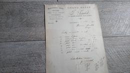 Facture Document Paulet Grand Bazar Saint Aignan Loir Et Cher 1924 - 1900 – 1949
