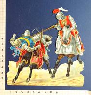 DECOUPI GRAND FORMAT......H : 14 Cm...... VICTORIAN SCRAP ... TOURNOI CHEVALERESQUE....JOUTE......ARMURES ....CHEVAL - Découpis