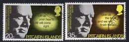 Pitcairn QEII 1974 Churchill Birth Centenary Set Of 2, Used, SG 155/6 - Stamps