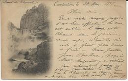 CARTE POSTALE DE CONSTANTINE DE 1897 - Constantine