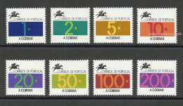 Portugal Timbre-taxe Port Dû 1992-93 Af. 82-89 ** Portugal Postage Due 1992-93 ** - Port Dû (Taxe)