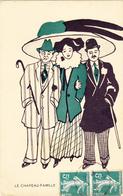RARE CPI D' ARIS MERTZANOFF En 1908 ILLUSTRATEUR ILLUSTRATION Femme Au Chapeau Famille - N° 6 De La Série - Autres Illustrateurs
