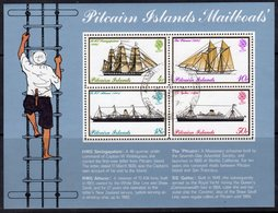 Pitcairn QEII 1975 Mailboats MS, Wmk. Normal, Used, SG 161 - Stamps