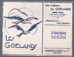 Bordeaux / Angoulème : Buvard  LES GOELANDS (cahiers) Laroche-Joubert  (PPP10463) - Stationeries (flat Articles)