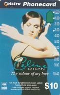 TARJETA TELEFONICA DE AUSTRALIA. MUSICA. Sony-Celine Dion. AUS-AMA-081. (115) - Música
