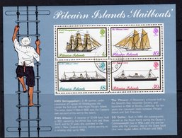 Pitcairn QEII 1975 Mailboats MS, Wmk. Crown To Right Of CA, Used, SG 161w - Stamps