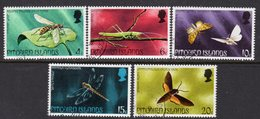 Pitcairn QEII 1975 Insects Set Of 5, Used, SG 162/6 - Stamps