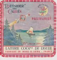 ETIQUETTE FROMAGE L'OUTSIDER DES CARRES LIGUEIL - Fromage