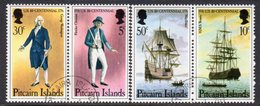 Pitcairn QEII 1976 Bicentenary Of US Revolution Set Of 2 X Se-tenant Pairs, Used, SG 167a/68a - Stamps
