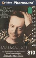 TARJETA TELEFONICA DE AUSTRALIA. MUSICA. Sony-Tommy Emanuel. AUS-AMA-080. (116) - Música