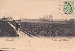 Turnhout Vue Prise Aux Smiskens 1909 (zegel Op Voorzijde , Verzonden Naar Indochine Saigon - Tanan) - Turnhout