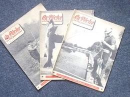 LA PECHE ET LES POISSONS Revue Mensuelle = Lot 3 Différents: Mars Avril Et Juillet 1955 - Grand Format En Noir Et Blanc - Livres, BD, Revues