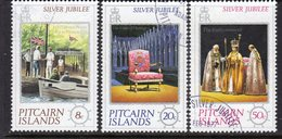 Pitcairn QEII 1977 Royal Silver Jubilee Set Of 3, Used, SG 171/3 - Stamps
