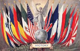 R119362 Victory. Flags. Tuck. Oilette - Cartoline