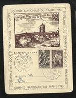 Lettre Carte Philatélique Numérotée Repiquée Lyon 10/10/1943 N° 584 Et 585  Cachets Illustrés B/TB   Soldé ! ! ! - ....-1949