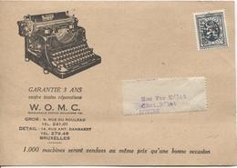 SJ78/ TP Préo 279 BXL 1929 Machine à écrire W.O.M.C. Construite Par Une Des Plus Grandes Aciéries Du Monde - Factories & Industries