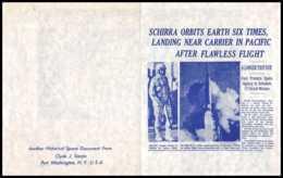 11293/ Espace (space Raumfahrt) Lettre (cover Briefe) 3/10/1962 The Six Orbits Of Sigma 7 Schirra USA - Stati Uniti