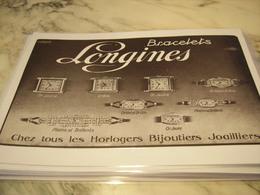 ANCIENNE PUBLICITE BRACELETS LONGINES  1929 - Bijoux & Horlogerie