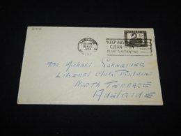 Australia 1954 Adelaine Slogan Cancellation Cover__(L-24346) - 1952-65 Elizabeth II: IEmissione Prima Decimali