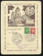 Lettre Carte Philatélique Numérotée Repiquée Chatillon  10/10/1943 N°511 Et 513   Cachets Illustrés B/TB   Soldé ! ! ! - ....-1949