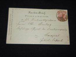 Bosnia Hertsegovina 1899 Vares 5h Red Stationery Card__(L-28033) - Bosnien-Herzegowina
