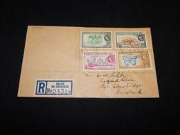 British Honduras 1950's Registered Cover To UK__(L-24926) - British Honduras (...-1970)