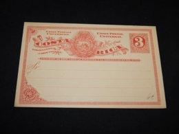 Costa Rica 3c Red Unused Stationery Card__(L-26448) - Costa Rica