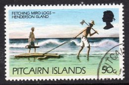 Pitcairn QEII 1977-81 Definitives 90c Value, Wmk. Inverted, Used, SG 182aw - Stamps