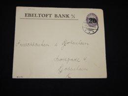 Denmark 1922 Ebeltoft Bank Cover__(L-28706) - Brieven En Documenten