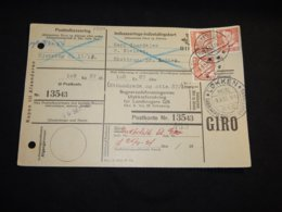 Denmark 1953 Lökken Parcel Card__(L-28396) - Covers & Documents