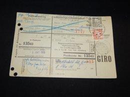 Denmark 1953 Sindal Parcel Card__(L-28487) - Dinamarca