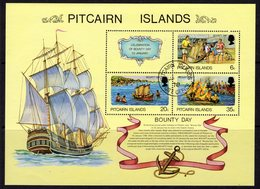 Pitcairn QEII 1978 'Bounty Day' MS, Used, SG 188 - Stamps