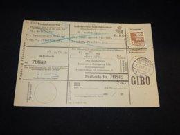 Denmark 1957 Praestbro Parcel Card__(L-28441) - Denmark