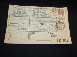 Denmark 1959 Billum Parcel Card__(L-28448) - Dänemark