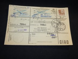 Denmark 1959 Billum Parcel Card__(L-28448) - Briefe U. Dokumente