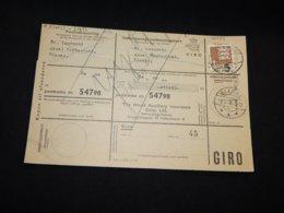 Denmark 1960 Blanke Parcel Card__(L-28473) - Denmark