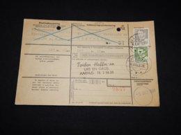 Denmark 1960 Hjörring Parcel Card__(L-28504) - Briefe U. Dokumente