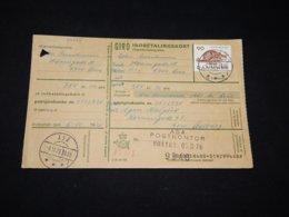 Denmark 1976 Aså Parcel Card__(L-28455) - Dinamarca