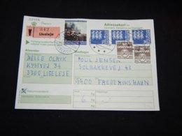 Denmark 1988 Liseleje Addressekort__(L-28452) - Lettere