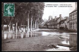 45, Jargeau, Crue De La Loire, 20 Octobre 1907, Le Boulevard Carnot - Jargeau