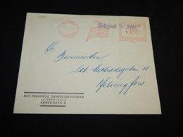 Finland 1953 Helsinki S/S Hroar Ship Mail Meter Mark Cover__(L-27261) - Finnland