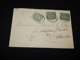 France 1906 La Chartre Cover__(L-26310) - Covers & Documents