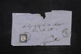 ITALIE - Affranchissement De Torino Sur Lettre ( Dans L 'état) En 1860 Pour Nice - L 26673 - Sardinia