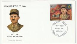 WALLIS Et FUTUNA - FDC - 1997 -N°PA 201 - Maréchal Leclerc - FDC