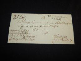 Germany 1800's Reichenbach Prephilately Letter__(L-27348) - Deutschland