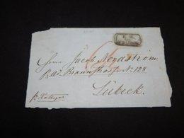 Germany 1860's Streamer Kattegat Ship Mail Letter Front__(L-27385) - Germania
