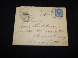 Germany 1895 Deutsche-America Seepost Cover__(L-27223) - Briefe U. Dokumente