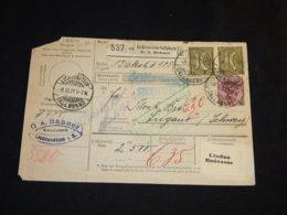 Germany 1921 Lichtenstein-Callnberg Parcel Card To Switzerland__(L-24180) - Germania
